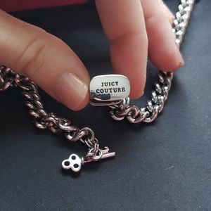Juicy Couture Jewelry - JUICY COUTURE pave padlock toggle necklace
